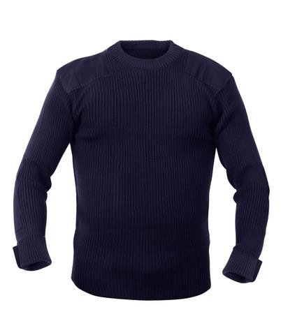 Military Navy Acrylic Commando Sweater - Full View
