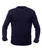Military Navy Acrylic Commando Sweater - Full View