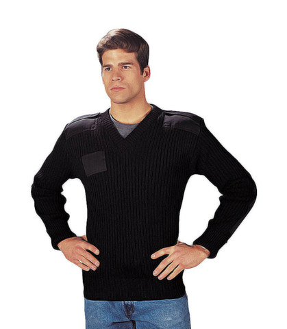 US Army V Neck Style Commando Sweater - Full View