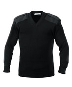 Police Uniform V Neck Sweater - Front View