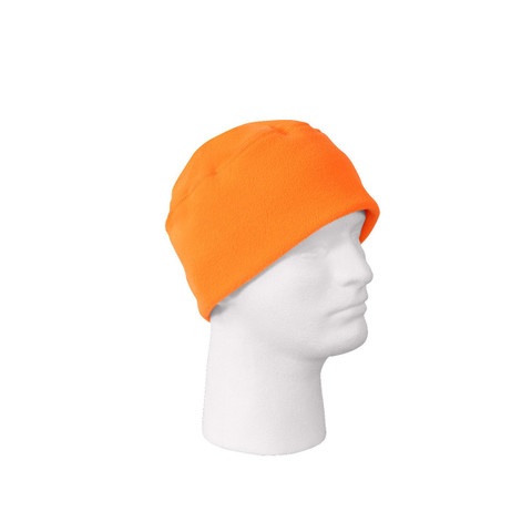Safety Orange Polar Fleece Watch Cap - View