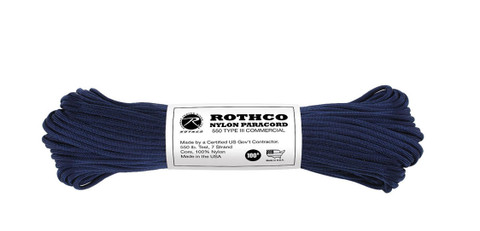 Midnight Blue Nylon Paracord 550 LB - View