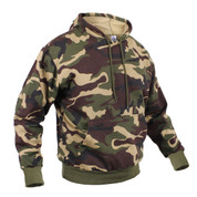 Woodland Camo Pullover Hooded Sweatshirt - View
