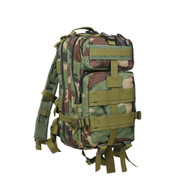 Woodland Camo Medium Transport Pack - Front View