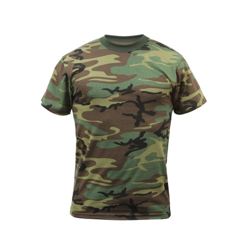 Woodland Camo T Shirt - Front View