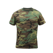 Heavyweight Woodland Camo T Shirt - Front View