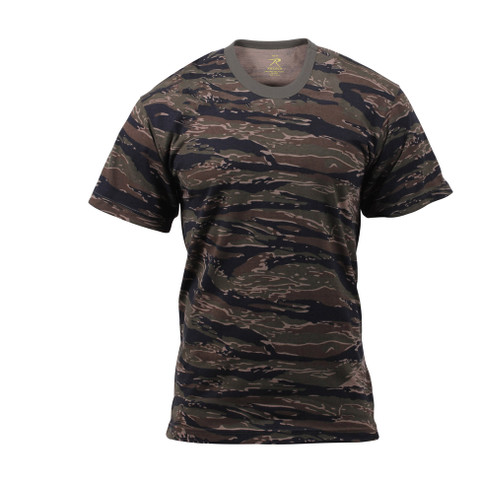 Tiger Stripe Camouflage T Shirt - Front View