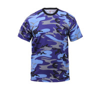 Electric Blue Camo T Shirt - Front View