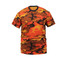 Savage Orange Camo T Shirt - Front View