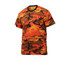 Savage Orange Camo T Shirt - Left Side View
