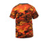 Savage Orange Camo T Shirt - Back Side View