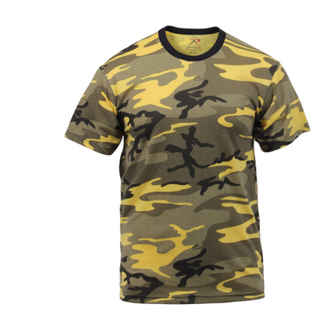 Stinger Yellow Camouflage T Shirt - Front View
