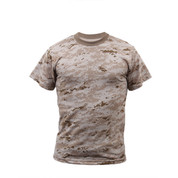 Desert Digital Camouflage T Shirt - Front View