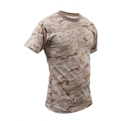 Desert Digital Camouflage T Shirt - Right Angle View