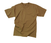 Brown T Shirt - 100% Cotton - View