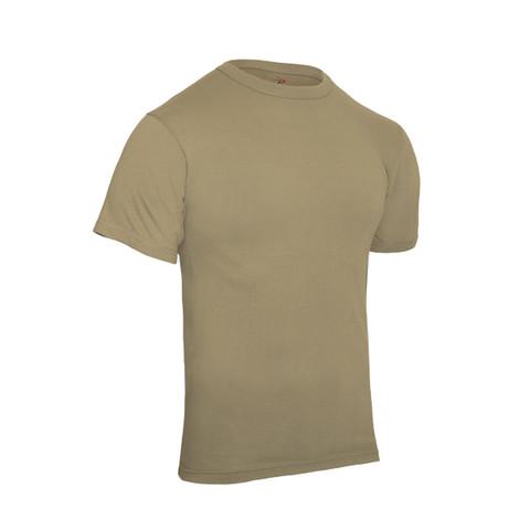 Khaki T Shirt - Poly/Cotton - View