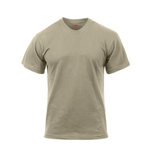 Desert Sand Moisture Wicking T Shirt - Front View