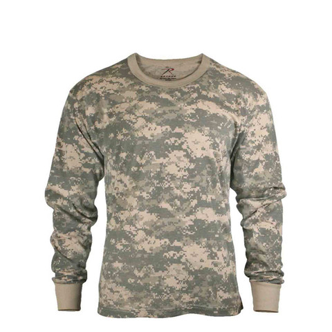 ACU Digital Camo Long Sleeve T Shirt - View