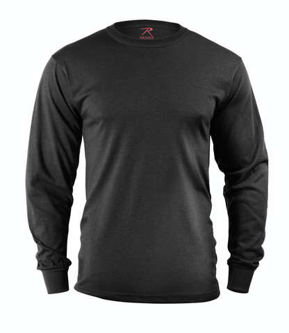 Black Long Sleeve T Shirt - View