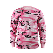 Pink Camo Long Sleeve T Shirt
