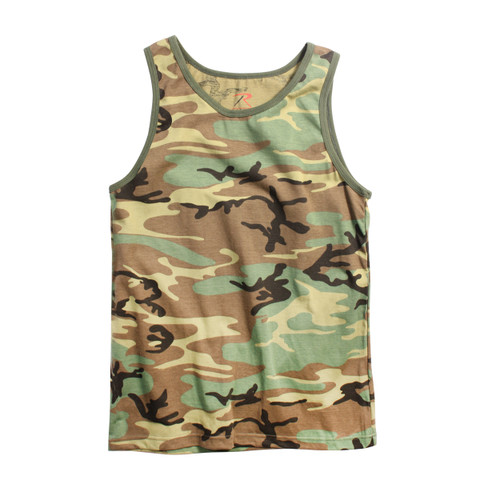 Woodland Camo Tank Top - View