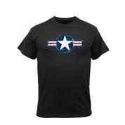 Vintage Black Air Corps T Shirt - View