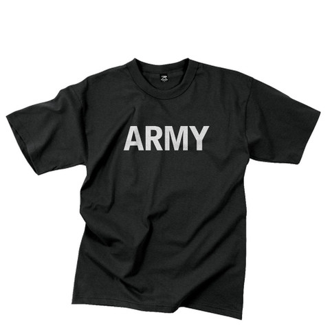 Physical Training Reflective Grey PT Army T Shirt - View