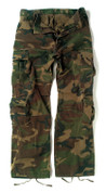 Vintage Camo Paratrooper Fatigues - Flat Front View