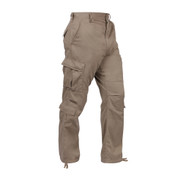 Vintage Paratrooper Khaki Fatigue Pants - Right Side View