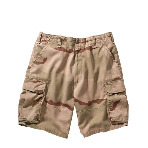 Vintage Desert Cargo Fatigue Military Shorts - View
