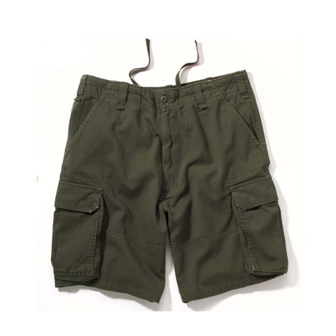 Vintage Cargo Fatigue Shorts - Flat Front View