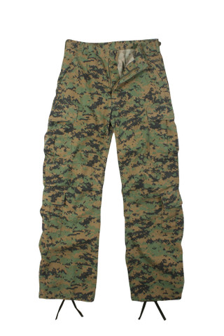 Vintage Woodland Digital Camo Paratrooper Fatigues - Flat View