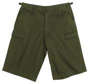 Olive Drab Longer BDU Shorts - View