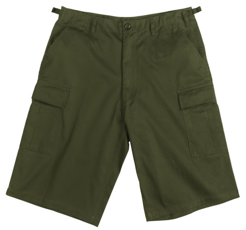 Olive Drab Longer BDU Shorts - View