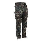 Vintage Style Camo M 65 Field Pants - Front View