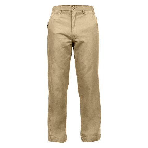 Vintage Khaki Chino Pants (Military 1940's Style) - Front View