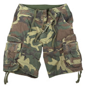 Vintage Woodland Camo Infantry Fatigue Shorts - View