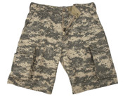Vintage ACU Digital Camo Fatigue Shorts - View