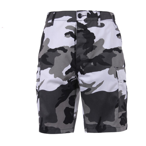 Urban Camo BDU Military Shorts - Front View