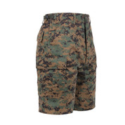 Woodland Digi Camo BDU Military Shorts - Right Side View