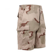 Tri Color Desert Camo BDU Military Shorts - Right Side View