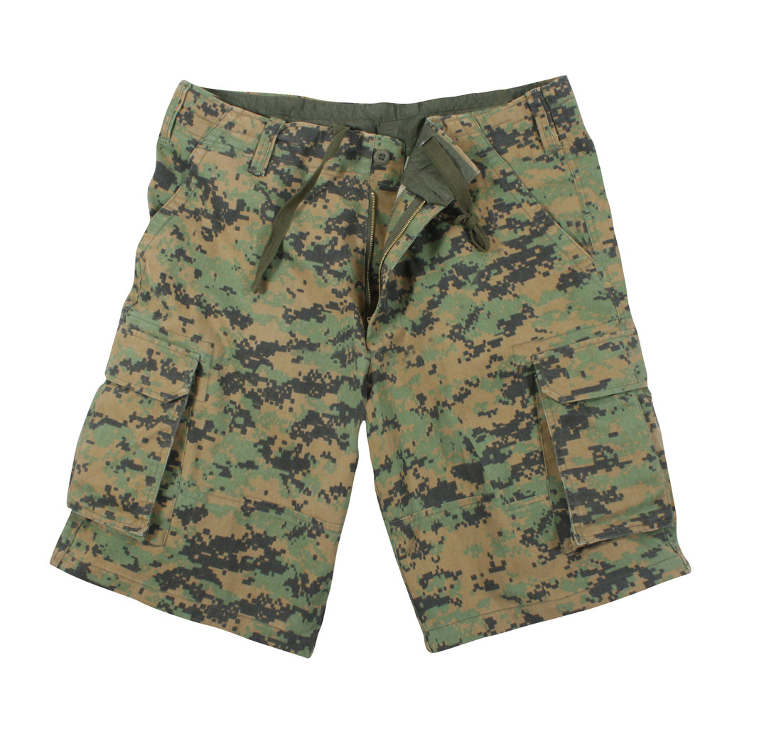 f2929f37d Shop Vintage Woodland Digital Camo Shorts - Fatigues Army Navy Gear