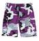 Purple Camo BDU Military Shorts - Flat View