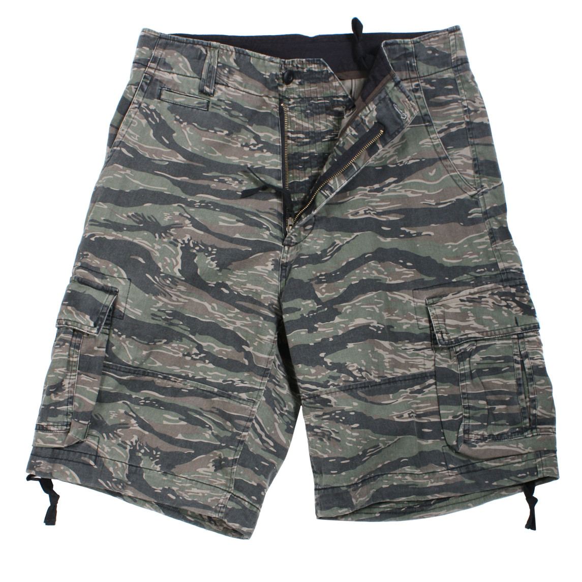 fdb2094319 Shop Vintage Infantry Tiger Stripe Camo Fatigue Shorts - Fatigues Army Navy  Gear