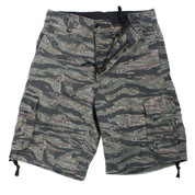 Vintage Infantry Tiger Stripe Camo Fatigue Shorts - View