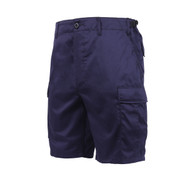 Navy Blue BDU Military Shorts - Front View