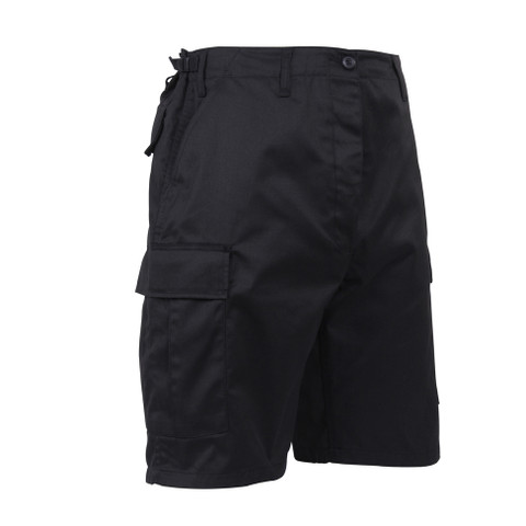 Black BDU Military Shorts - Right Side View