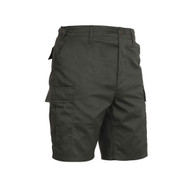 Olive Drab BDU Military Shorts - Side View