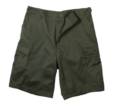Olive Drab BDU Military Shorts - Flat View