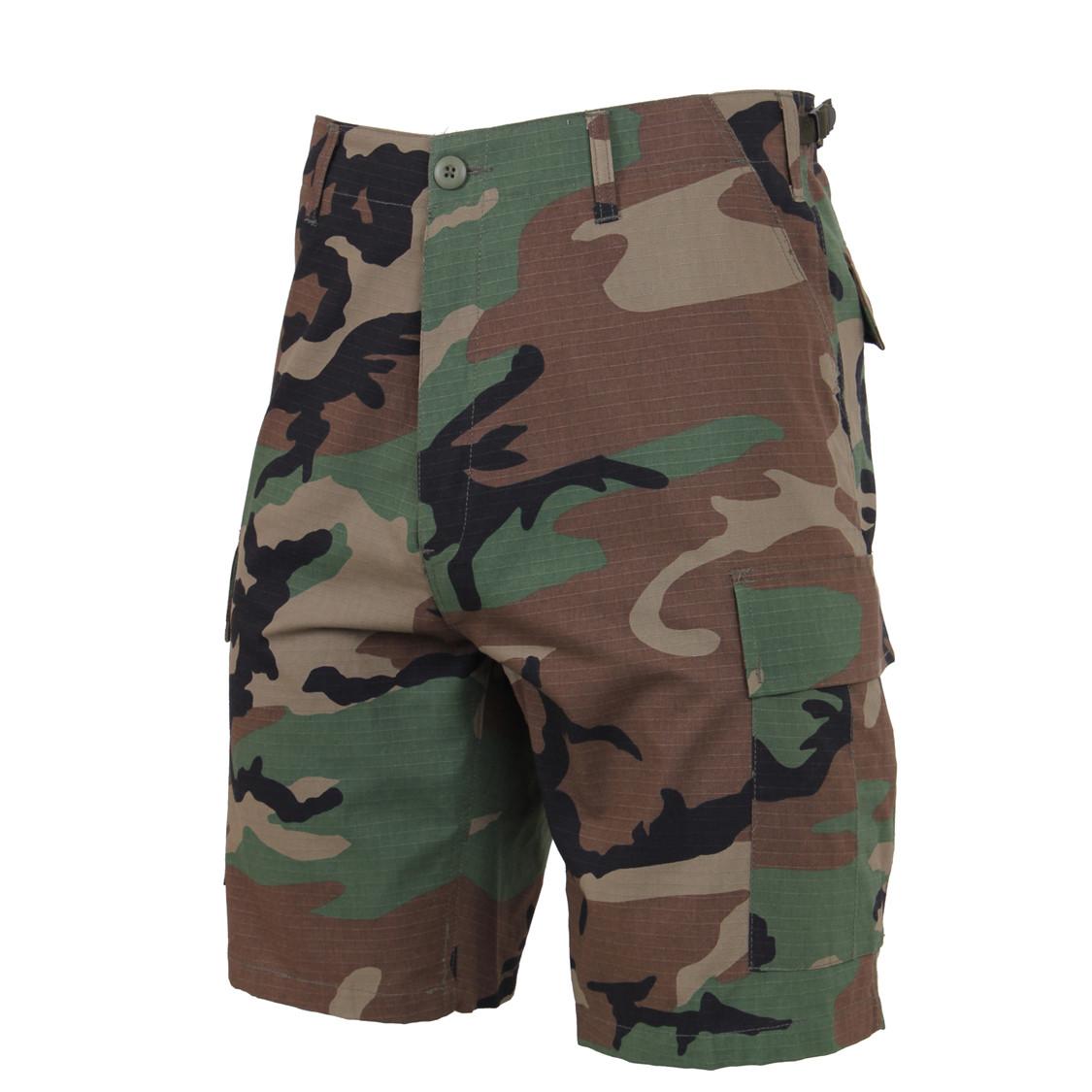 89d9c8fbf34043 Shop Woodland Camo Ripstop BDU Shorts - Fatigues Army Navy Gear